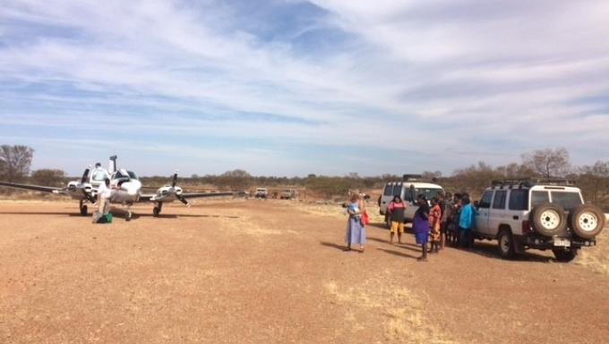 Peak hour at Jigalong airstrip
